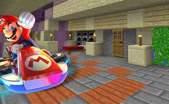 Mario Kart 8 Minecraft Titel