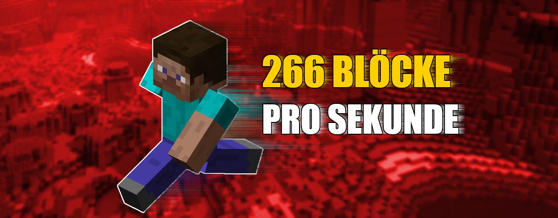 Minecraft: 266 Blöcke pro Sekunde – So irre ist die neue Speed-Verzauberung