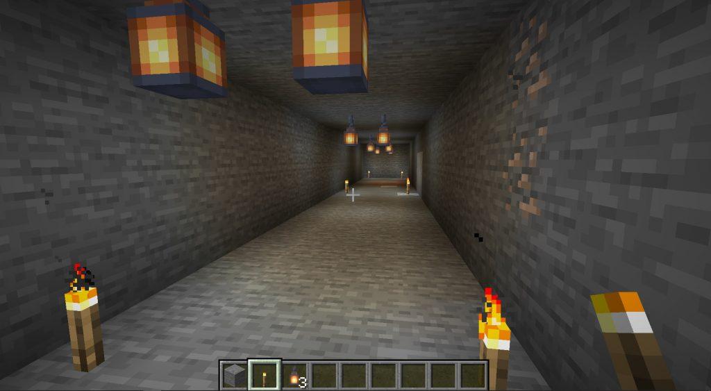 Minecraft Branch Mining Main Tunnel