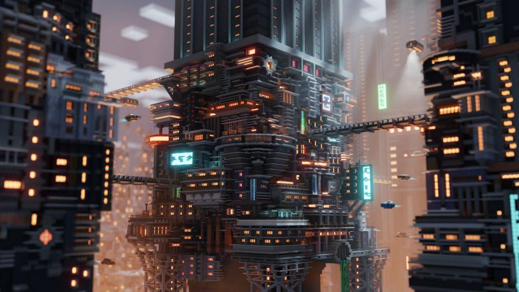 Minecraft Cyberpunk City