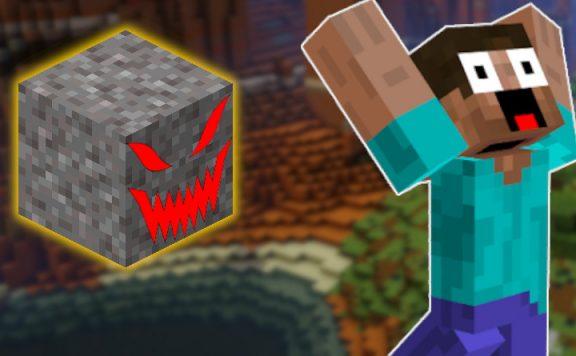 Minecraft Kies evil face title 1140x445