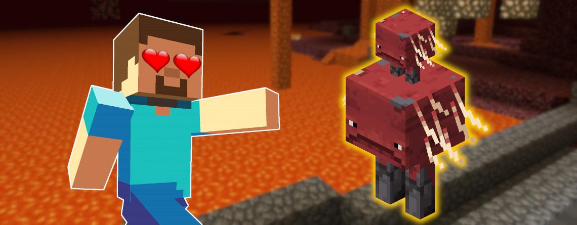 Minecraft: Mit diesen Tieren könnt ihr bald über Lava reiten