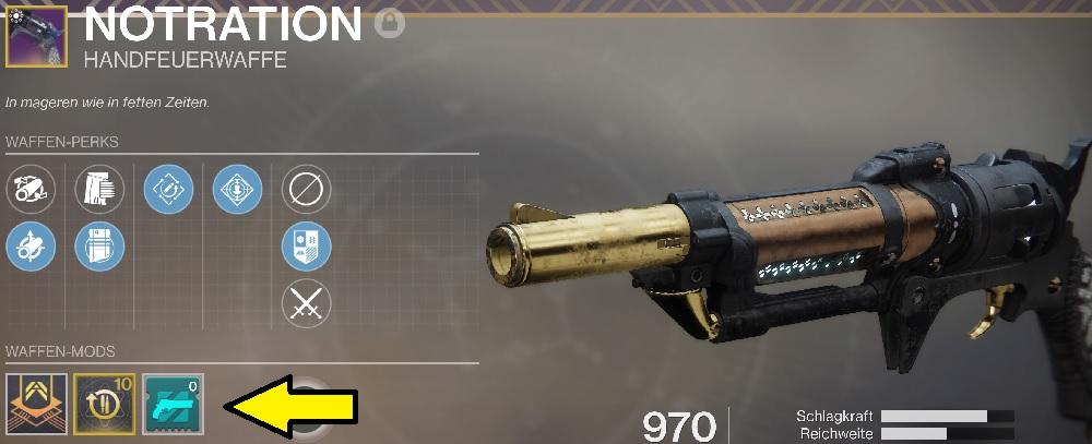 Mod Handfeuerwaffe Season 10 Destiny 2