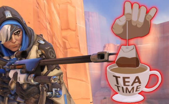Overwatch Ana Tea Time Teabagging title 1140x445