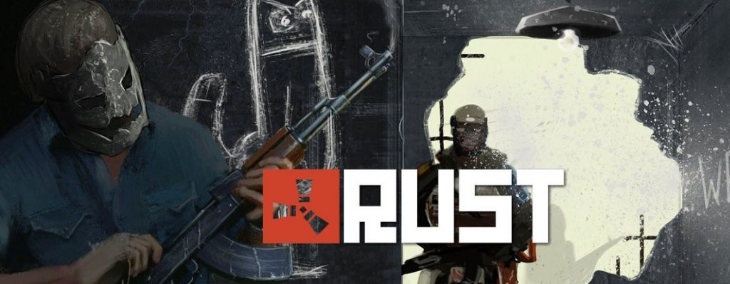 Rust Screenshot mit Logo