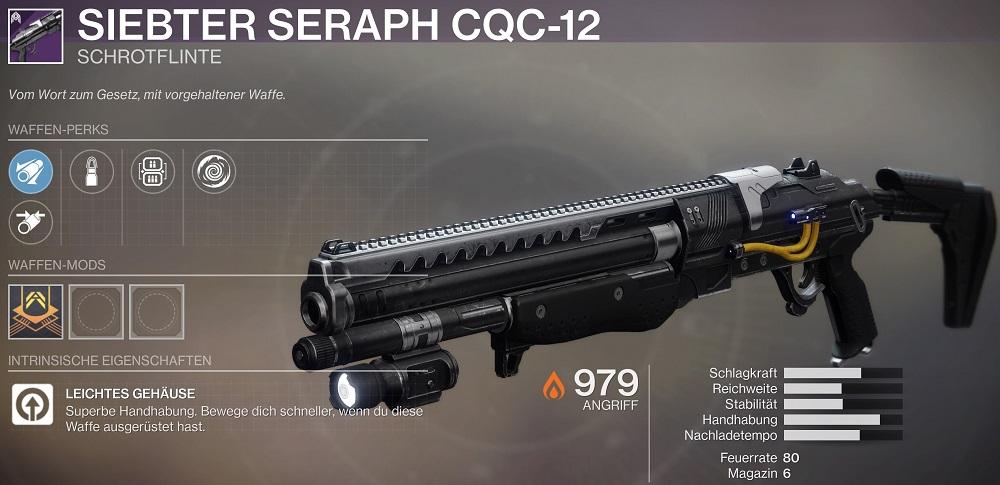 Seraph Schrotflinte Shotgun Season 10 Destiny 2