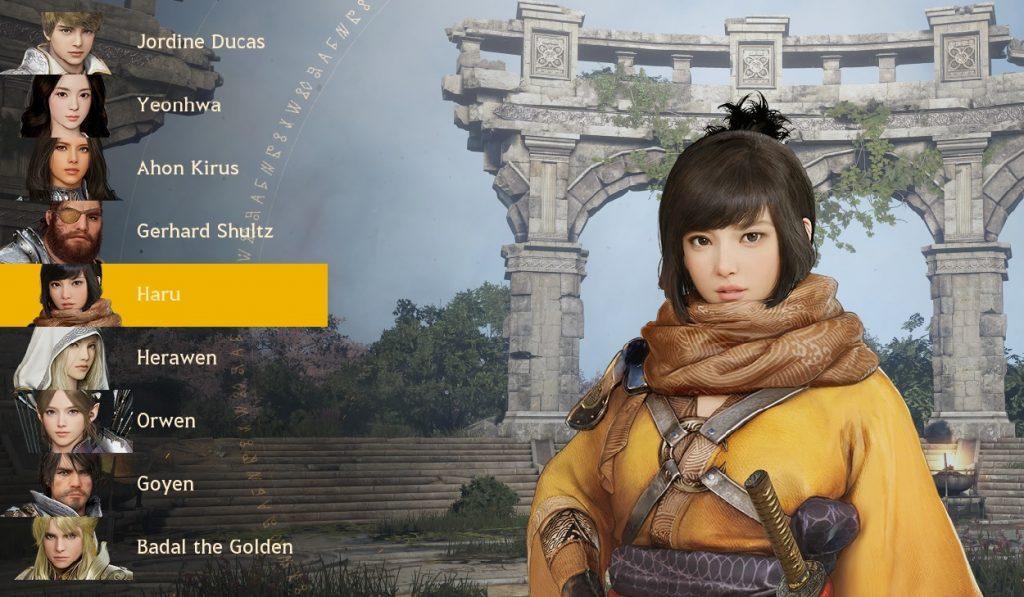 Haru und die anderen Charaktere aus Shadow Arena