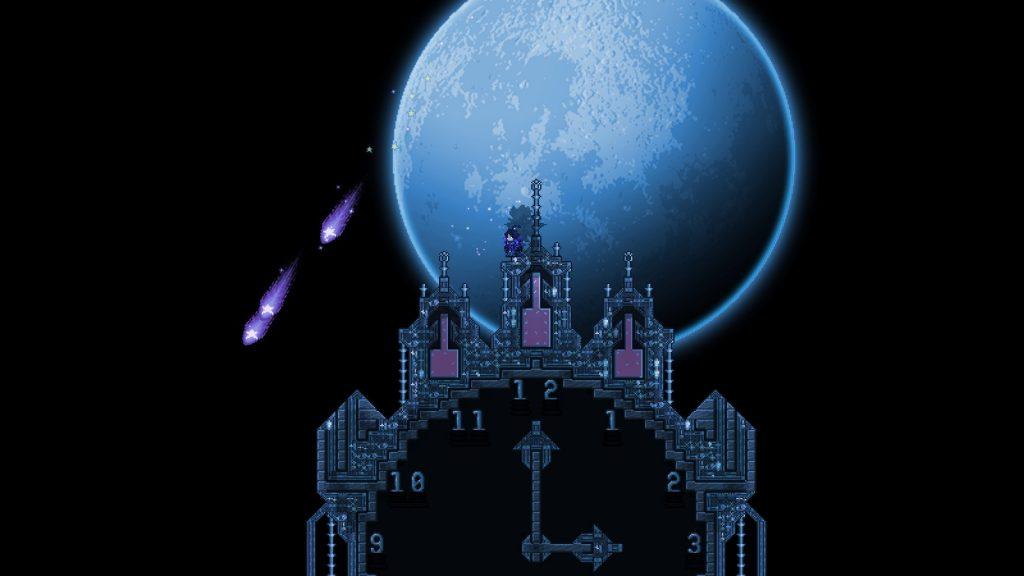 Terraria Gameplay bei Nacht