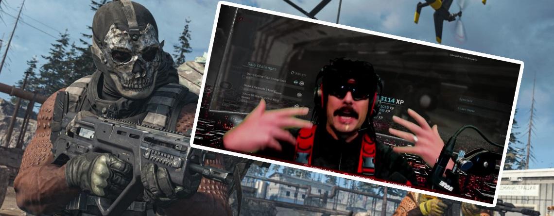 Twitch: DrDisespect beschimpft CoD Warzone als Fortnite – Spuckt vor Wut
