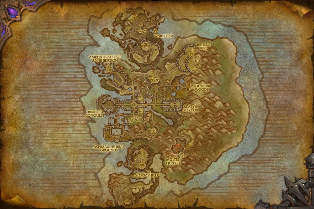 WOW Ashran Map