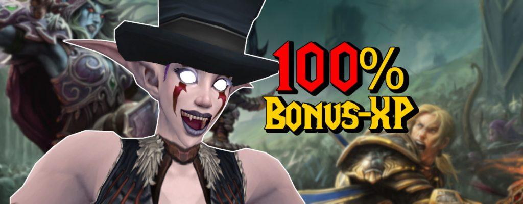 WoW 100 Prozent Bonus XP title 1140x445