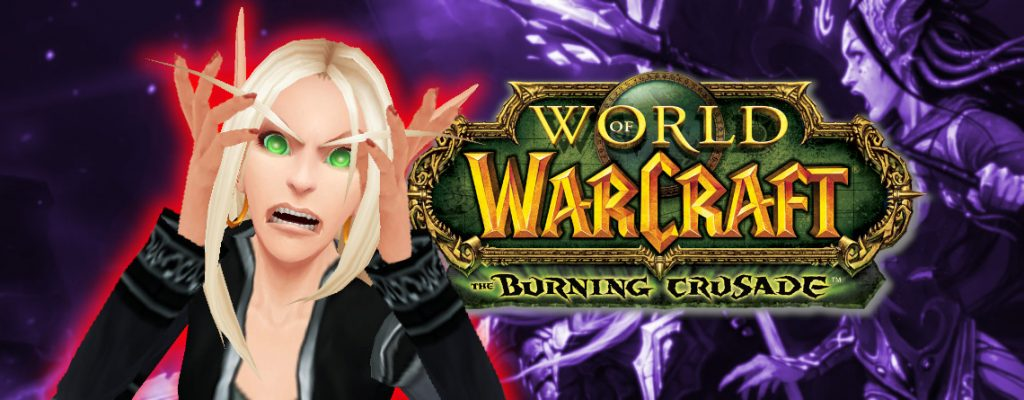 WoW Blood Elf Burning Crusade angry titel 1140x445