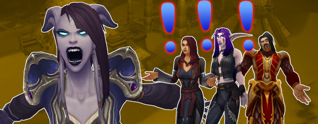 WoW Draenei angry daily quest titel 1140x445