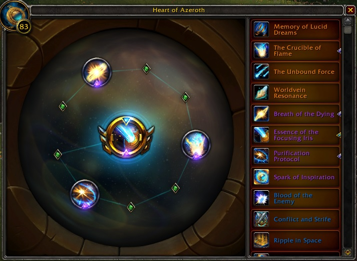 WoW Essences Interface