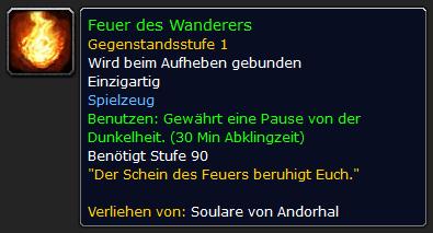 WoW Feuer des Wanderers