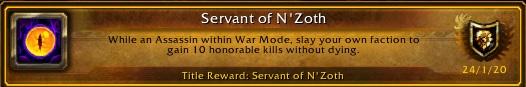 WoW Servant of Nzoth achievement