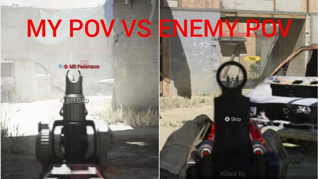 cod modern warfare gameplay pov realismus
