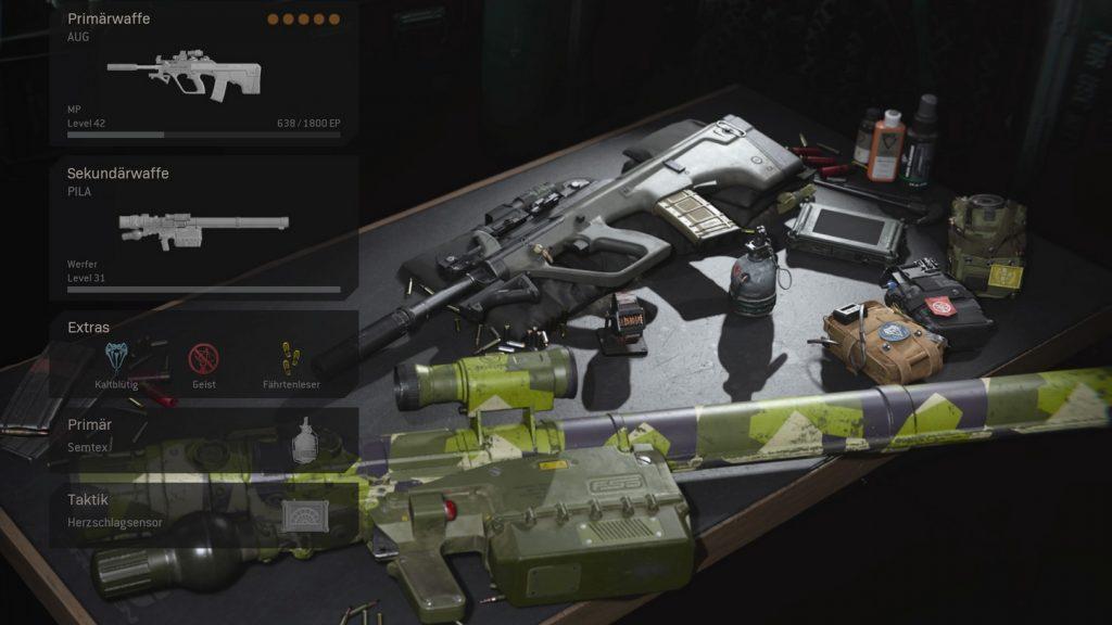 cod warzone loadout mit perks ausrüstung maik