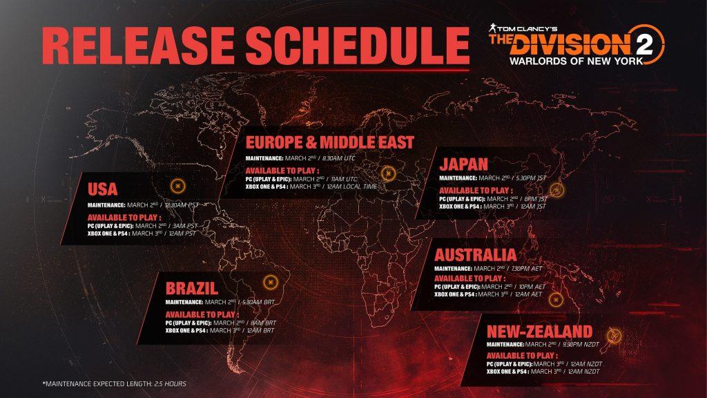 division 2 warlords exakte startzeiten weltweit