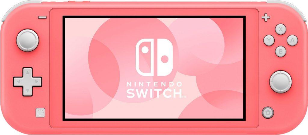 Die Nintendo Switch Lite in der Farbe Koralle.