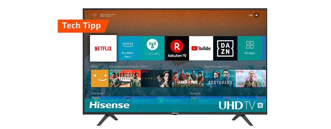 Amazon Angebot: Beliebter Hisense 55 Zoll 4K TV für nur 350 Euro