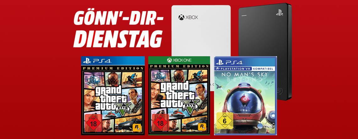 MediaMarkt Angebote: Spiele und Gaming-Festplatten für PS4 & Xbox One
