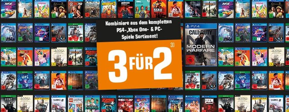 3 Spiele kaufen, nur 2 bezahlen – Aktion bei Saturn.de