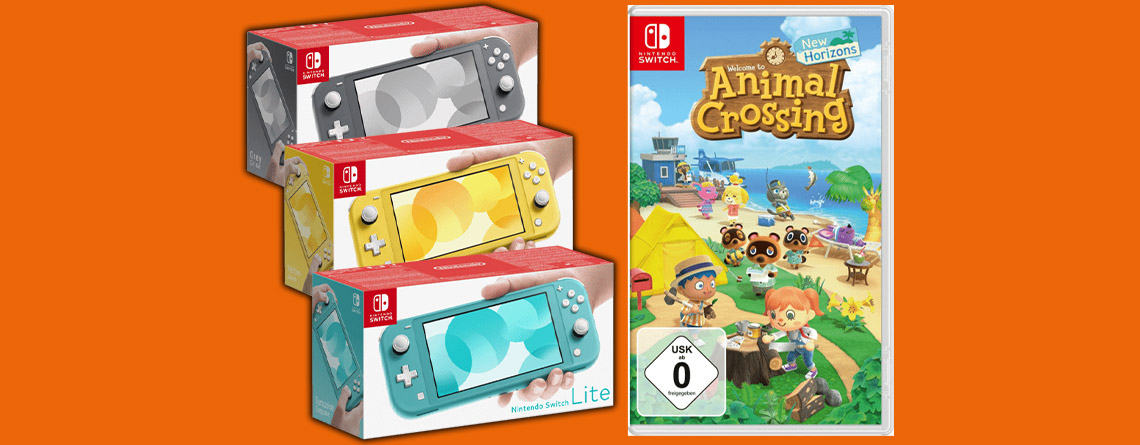 Nintendo Switch Lite mit Animal Crossing zum absoluten Bestpreis