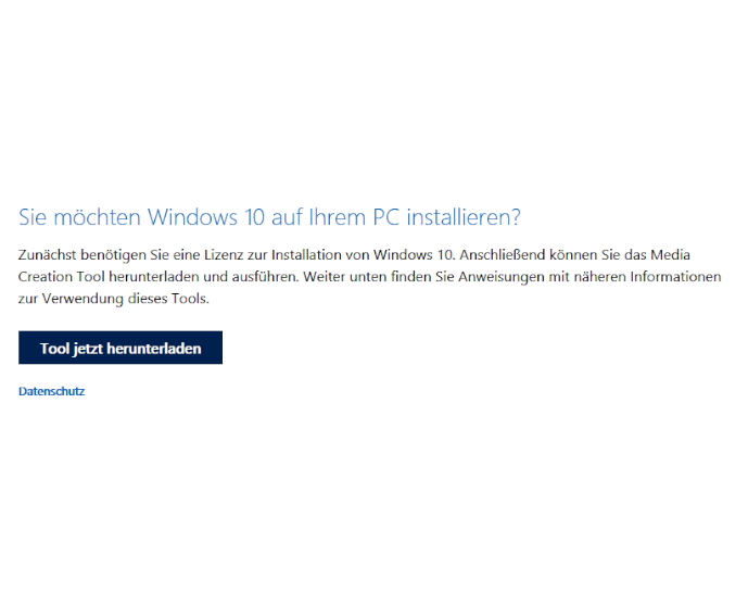 Windows Installation - Mediatool download