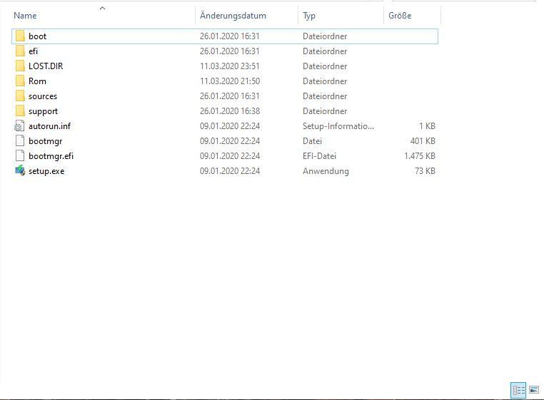 Windows installieren - fertiger USB-Stick