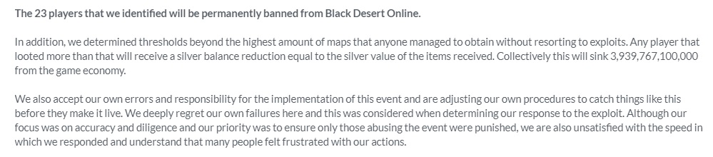 Black Desert Exploit Statement Kakao Games