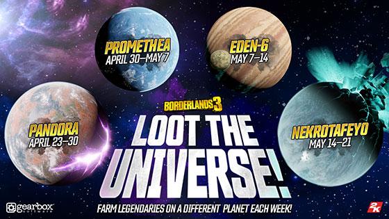 Borderlands 3 Loot the Universe