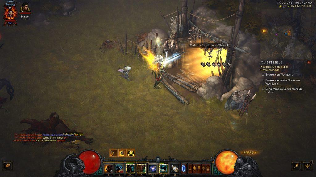 Diablo 3 Akt 1 Start Höhle des Mondclans