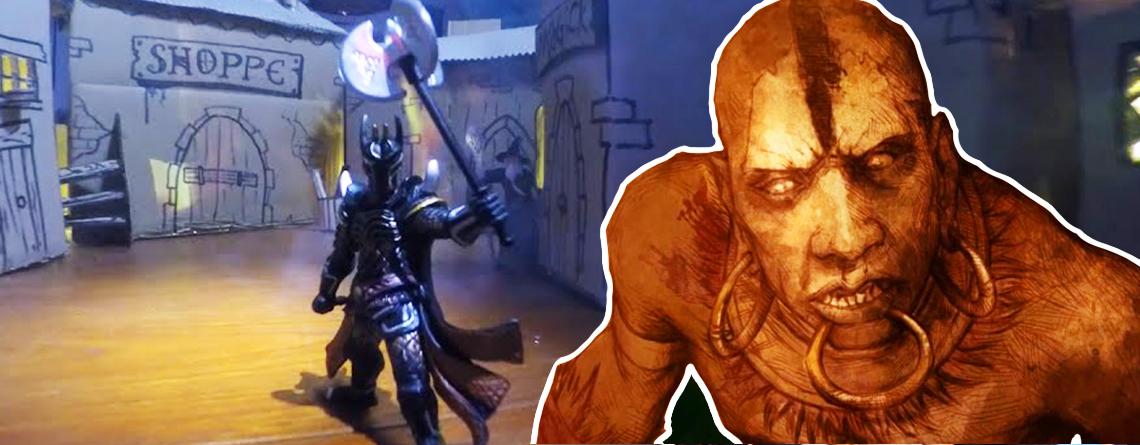 Freunde bauen geniales Diablo-RPG aus Pappe für einsamen Bräutigam