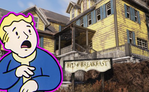 Fallout 76 Bed and Breakfast titel mit Vault Boy 2