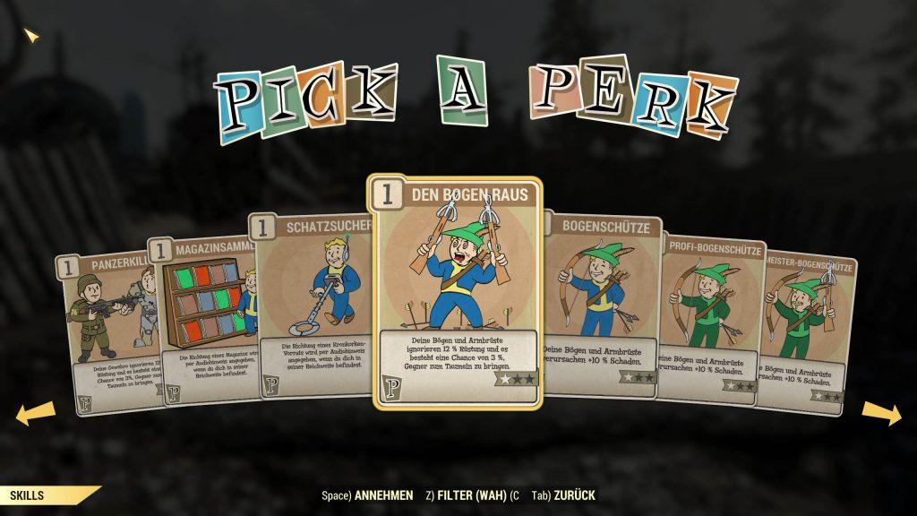 Fallout 76 Bogen Perks