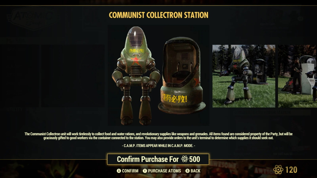 Fallout 76 Communist Collectron