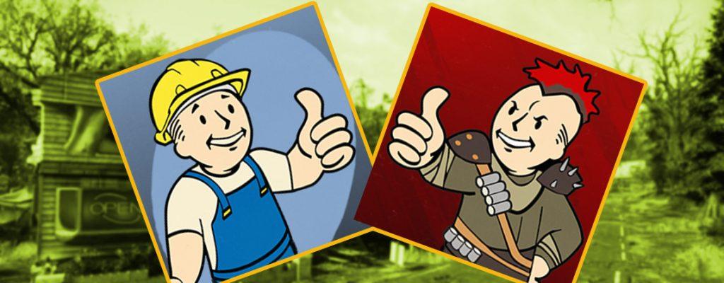 Fallout 76 Wastelanders siedler oder raider titel