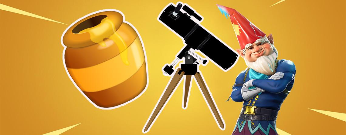 Fortnite: Honigtöpfe und Teleskope für Zwerge finden – So holt ihr euch 80.000 EP