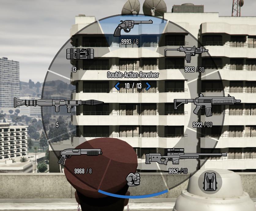 GTA Online Waffenrad Pistolen Übersicht