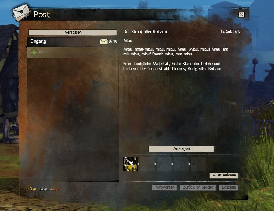Guild Wars 2 Post Katzen