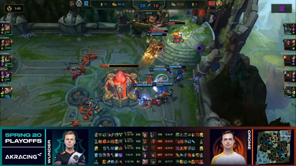 LoL G2 vs MAD Lions Endscreen