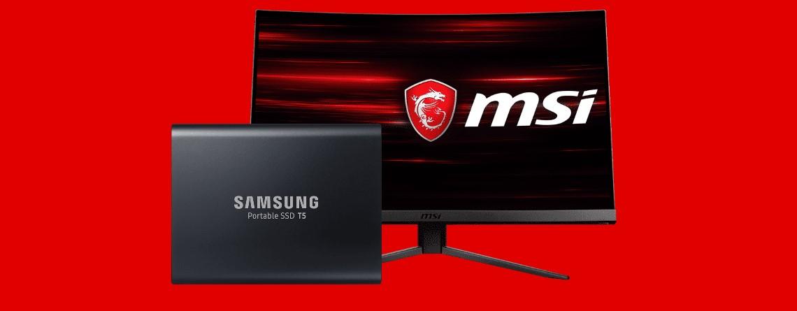 Externe SSD und Gaming Monitor aktuell vergünstigt bei