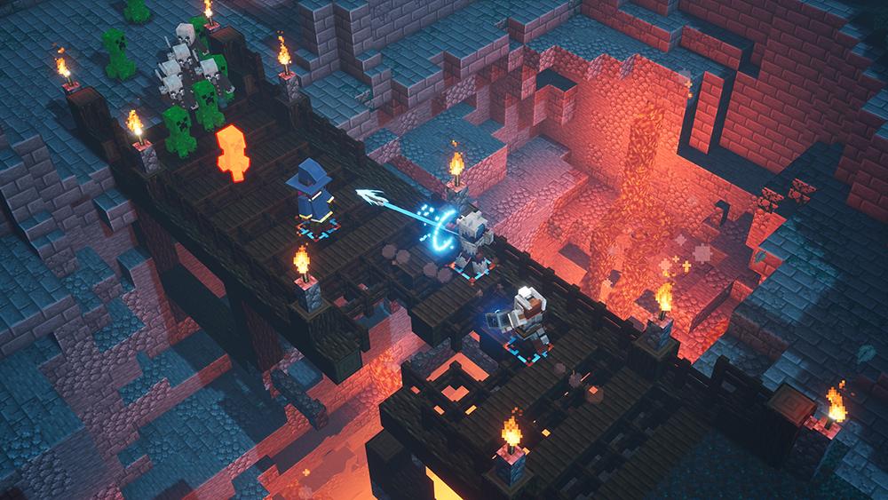 Minecraft Dungeons Pfeil Brücke Creeper