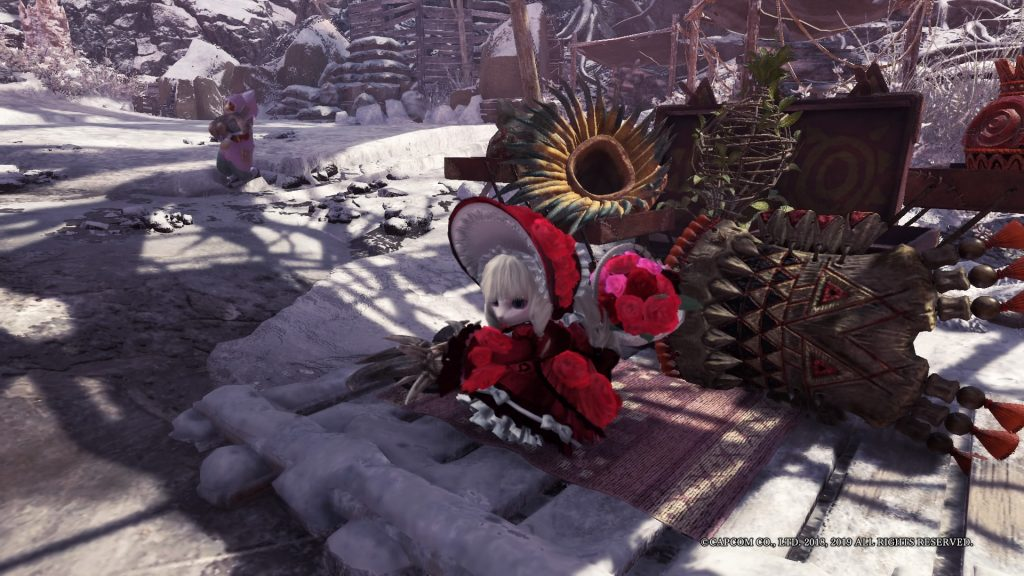 Monster Hunter World: Iceborne Palico Rosen Rüstung Flor Fest