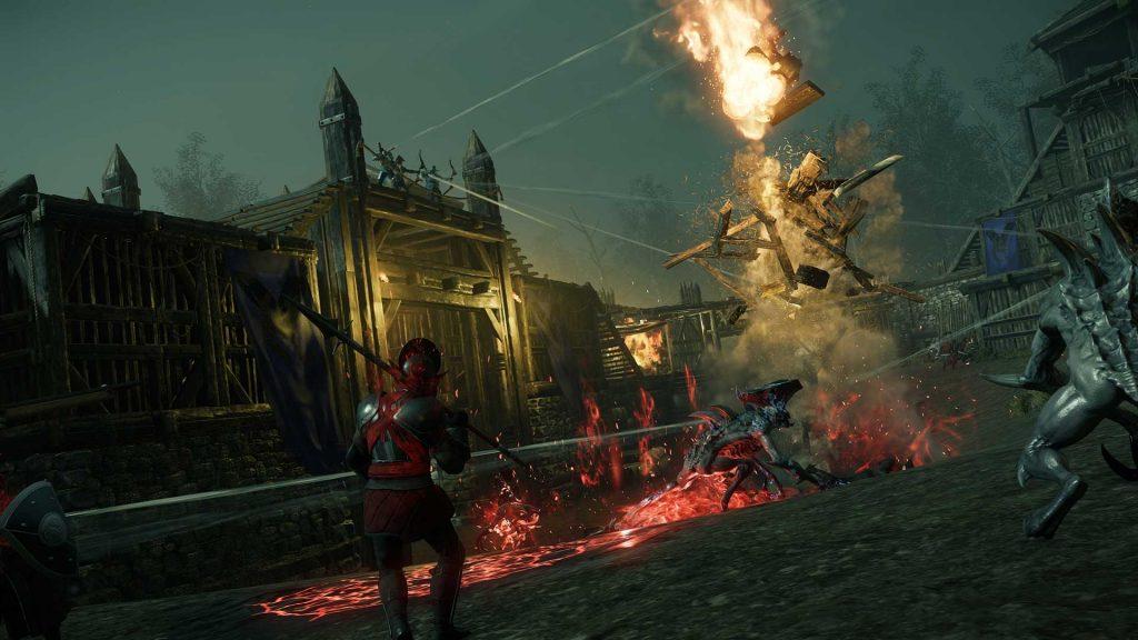 New World Corrupted Festung Belagerung Explosion