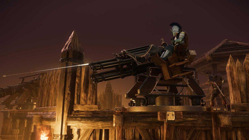 New World Gatling Gun Belagerung Verteidigung
