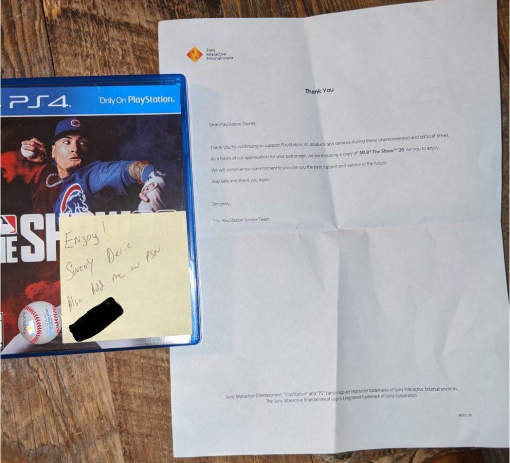 PS4 Reparatur, Brief und Geschenk