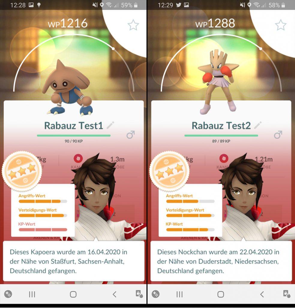 Pokémon GO Rabauz Entwicklung Nachher