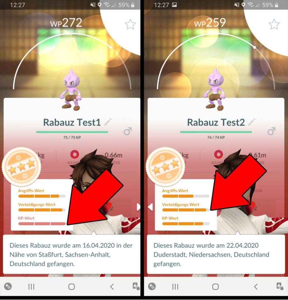 Pokémon GO Rabauz Entwicklung vorher